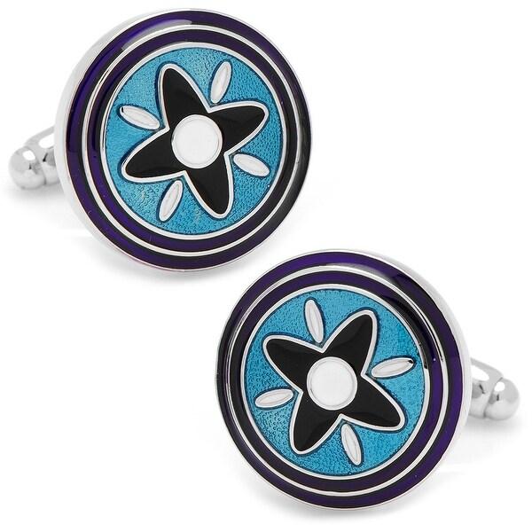 Blue and Purple Twilight Star Cufflinks