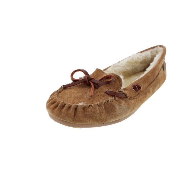 b57216f8b Shop G.H. Bass   Co. Mens Moccasin Slippers Suede Indoor Outdoor ...