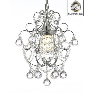 "Chrome Crystal Chandelier Lighting! H15"" x W11.5"""