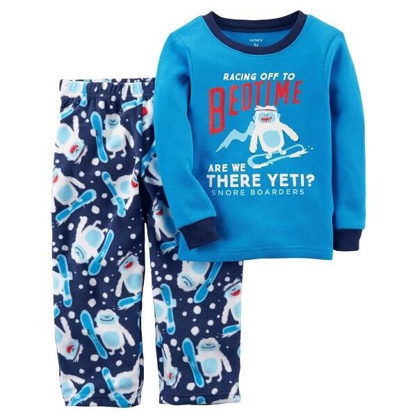 a6dbd218dac2 Shop Carter s Little Boys  2-Piece Thermal   Fleece PJs