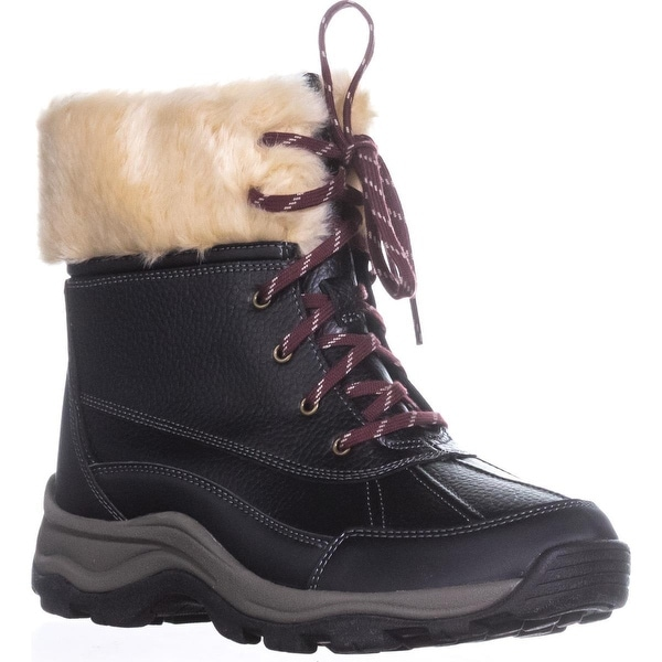 Clarks Mazlyn Arctic Fur Cuffed Hiking Boots, Black - 8.5 w us
