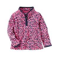 OshKosh B'gosh Baby Girls' Fleece Cozy, Pink, 6 Months