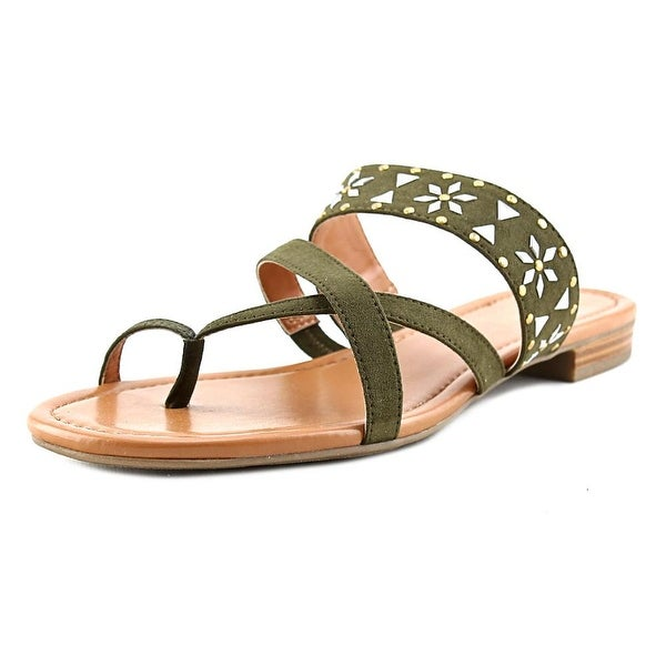 Style & Co Behati Women Open Toe Suede Green Thong Sandal