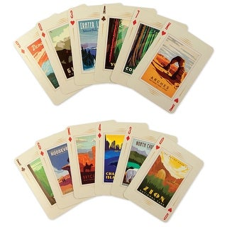 Unisex-Adult National Parks 100Th Anniversary Playing Card Set - Poster Art - Regulation Size - MultiColor