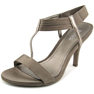 Kenneth Cole Reaction Know Way Women Open Toe Canvas Gray Sandals