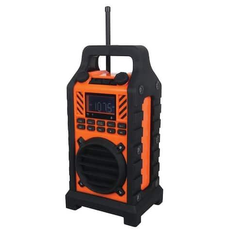 Sylvania SP303-Orange Heavy Duty Rugged Bluetooth Portable Speaker w/ FM Radio Manufacturer Refurbished