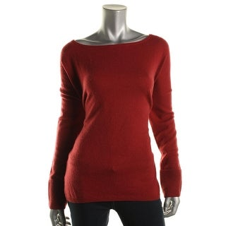 Vince Womens Wool Boatneck Pullover Sweater
