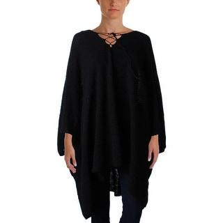 Lauren Ralph Lauren Womens Poncho Sweater Linen Knit - o/s