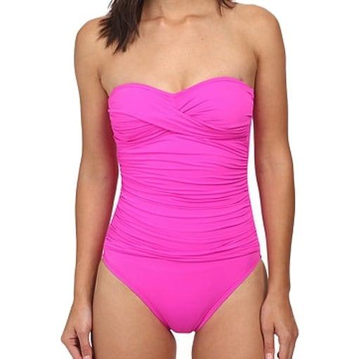 La Blanca NEW Pink Women's Size 8 Ruched Knot One-Piece Swimwear