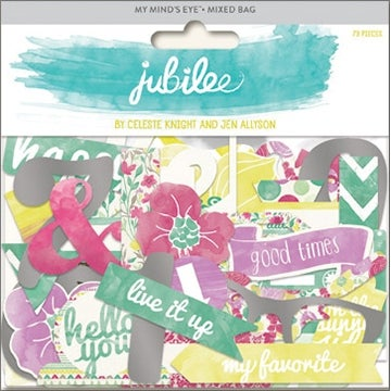 Jubilee Sherbet Mixed Bag Cardstock Die-Cuts-Happy