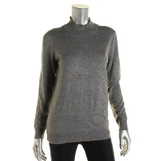 Calvin Klein Womens Marled Long Sleeves Pullover Sweater - M