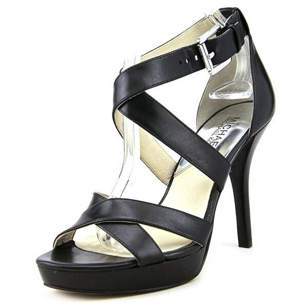 Michael Michael Kors Evie Platform Women Black Sandals