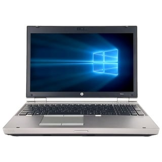 "Refurbished HP EliteBook 8570W 15.6"" Laptop Intel Core i7-3720QM 2.6G 8G DDR3 500G DVDRW Win 10 Pro 1 Year Warranty - Black"