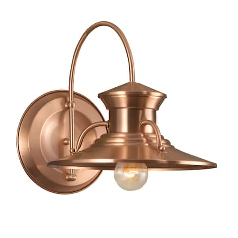 """Norwell Lighting 5155 Budapest Single Light 13"""" Tall Outdoor Wall Sconce with Copper Glass Shade"""