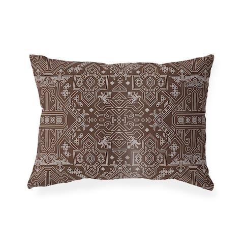 MAMLUK CHOCOLATE Lumbar Pillow By Kavka Designs
