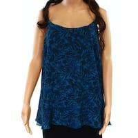 Joe Fresh NEW Blue Womens Size Medium M Floral Print Camisole Top