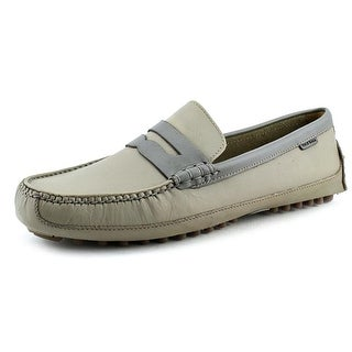 Cole Haan Grant Canoe.Penny Men Round Toe Leather Gray Loafer