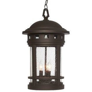 "Designers Fountain 2394-ORB 3 Light 11"" Cast Aluminum Hanging Lantern from the Sedona Collection"