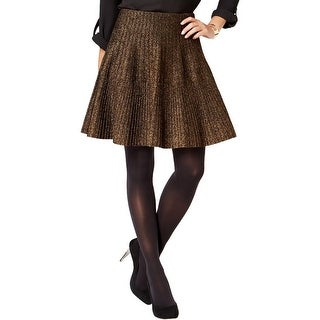Grace Elements Womens A-Line Skirt Textured Ribbed - L