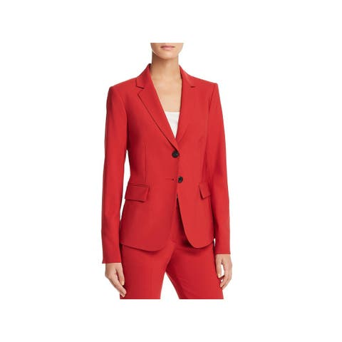 Theory Womens Two-Button Blazer Wool Office - 8