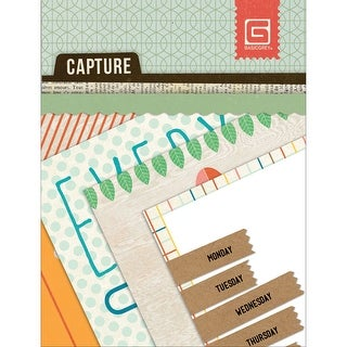 "Capture Mini Snippets Single-Sided Cardstock Cards 3""X4""-24 Designs"
