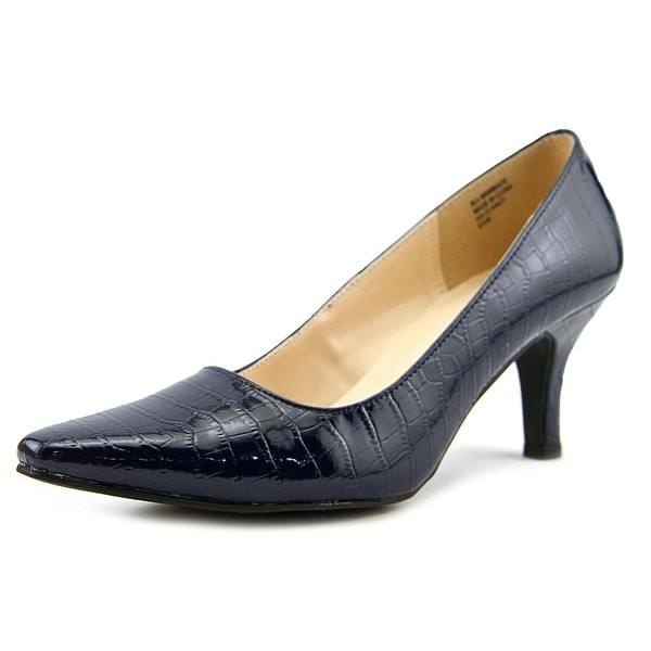 Karen Scott Clancy Women Pointed Toe Synthetic Blue Heels