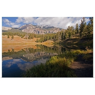 """""""Reflection on Trout Lake in Yellowstone National Park."""" Poster Print"""