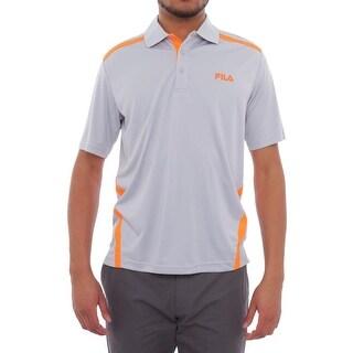 Fila Contrast Insert Short Sleeve Collared Neck Polo Men Polo Shirt