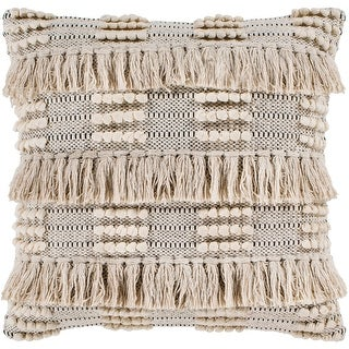 """Link to Embra Beige Bohemian Fringe Poly Fill Throw Pillow (18"""" x 18"""") Similar Items in Decorative Accessories"""