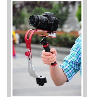 AGPtEK Pro Handheld video Camera Stabilizer Steady Perfect for GoPro, Cannon, Nikon With Smooth Pro Steady Glide Cam