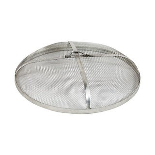 Sunnydaze Stainless Steel Fire Pit Spark Screen-Multiple Sizes - Silver (3 options available)