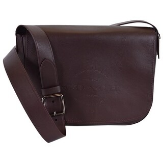Coach Men's F86778 Oxblood Brown Natural Leather Hudson Messenger Bag