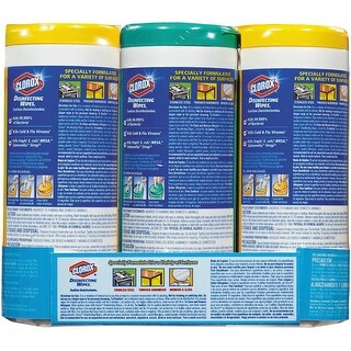 """Clorox Disinfecting Wipes 7""""X8"""", 35/Canister, 3/Pkg-Fresh Scent/Citrus Blend"""