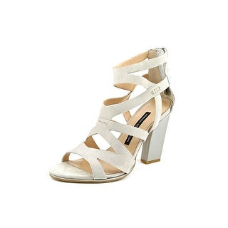 French Connection Isla Women Open Toe Leather Gray Sandals