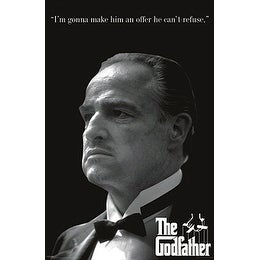 ''The Godfather: An Offer He Can't Refuse (B )'' by Anon Movie & TV Posters Art Print (36 x 24 in.)