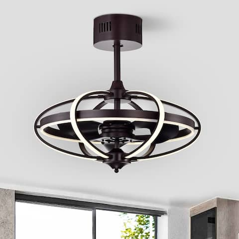 Samaire Brown 26-inch Reversible LED Ceiling Fan with Remote