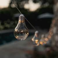 Early Edison Solar Powered LED String Light Bulbs