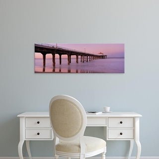 Easy Art Prints Panoramic Image 'Manhattan Beach Pier, Manhattan Beach, Los Angeles, California' Canvas Art