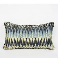 "G Home Collection Luxury Blue Big Chevron Pattern Pillow 12""X20"""