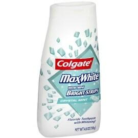 Colgate MaxWhite Toothpaste With Mini Bright Strips Crystal Mint 4.60 oz