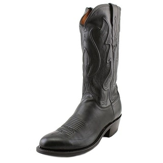 Lucchese M1003.R4 Men 2E Round Toe Leather Black Western Boot