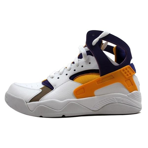 Nike Men's Air Flight Huarache White/University Gold-Court Purple Lakers 705005-101 Size 8.5