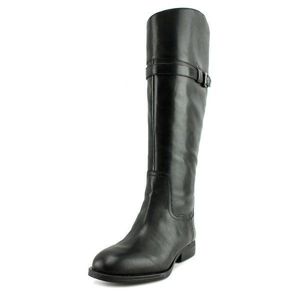 Nine West Velika Women Round Toe Leather Black Knee High Boot
