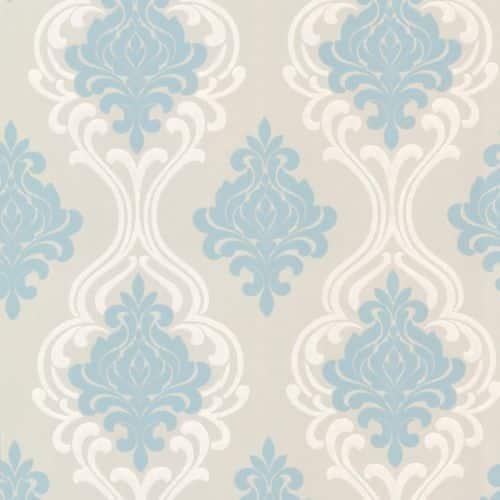 Shop Brewster 2533 20214 Indiana Light Blue Damask Wallpaper