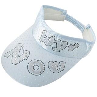 Unique Bargains Lady Hook Loop Fastener Letter Heart Pattern Visor Hat