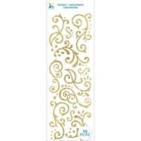 Momenta Glitter Stickers-Gold Flourishes