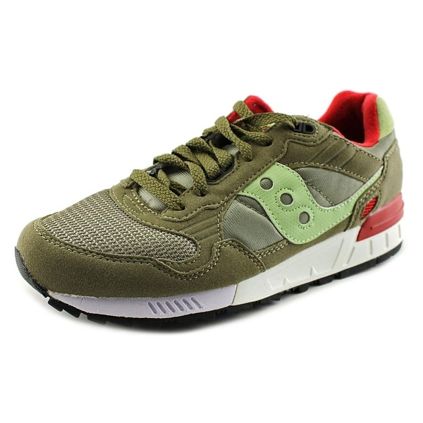 Saucony Shadow 5000 Men  Round Toe Suede Green Running Shoe