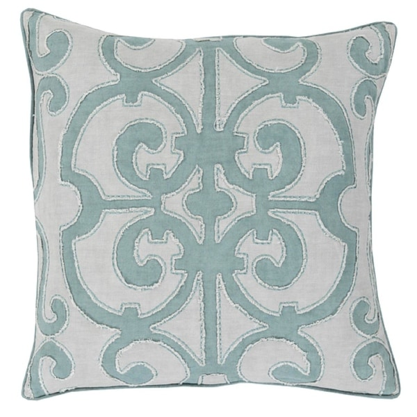 "20"" Princess Dreams In Shades of Cool Gray Decorative Throw Pillow - Down Filler"