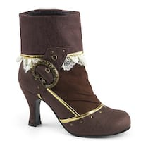 Womens Matey Pirate Brown Ankle Booties with Buckle