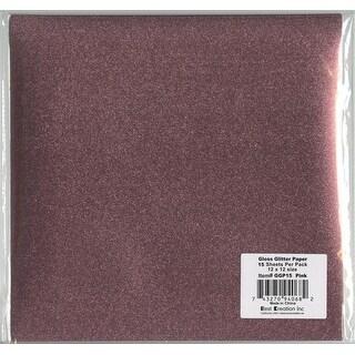 """Best Creation Gloss Glitter Paper 12""""X12""""-Pink"""